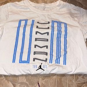 White Jordan shirt